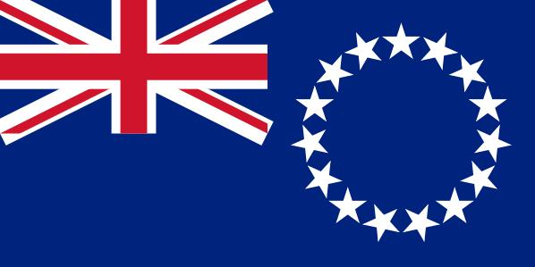 les Iles cook drapeau